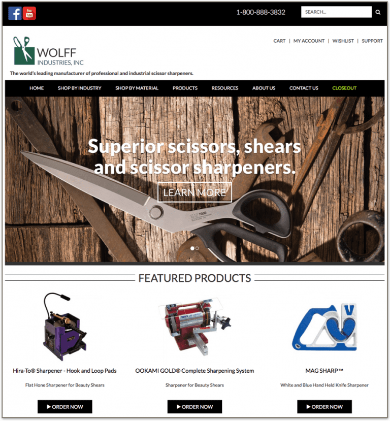 Marketing for Manufacturers Case Study: Website Redesign After